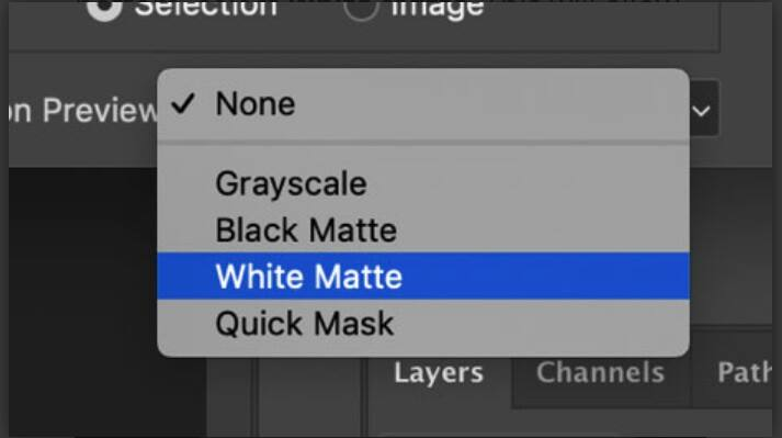 White Matte in photoshop