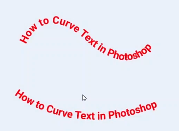 how to create curved text in photoshop-final view