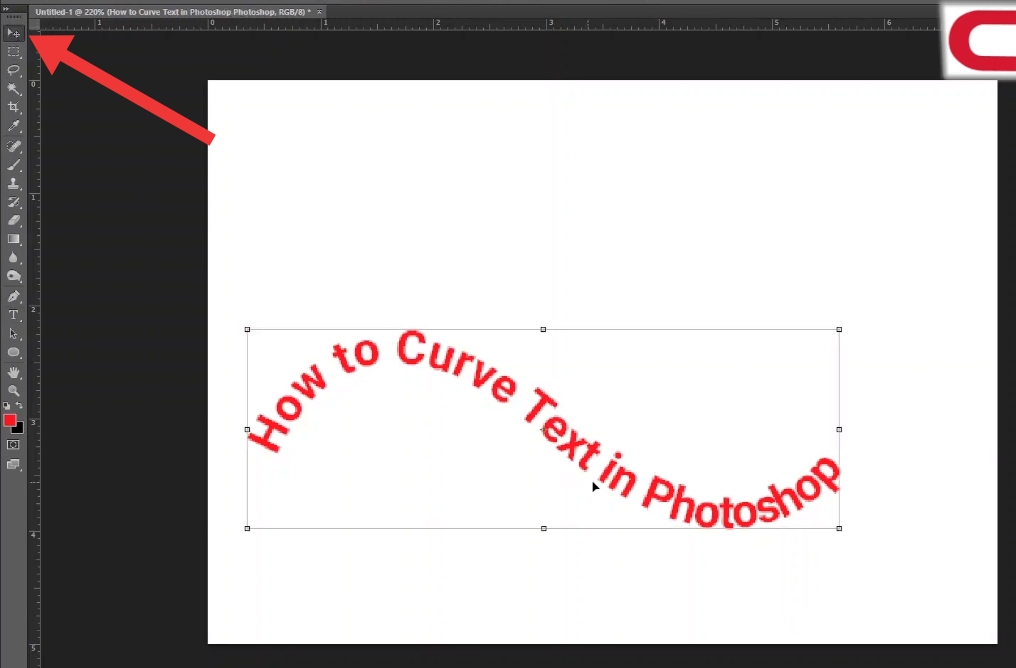 how to create curved text-position the text