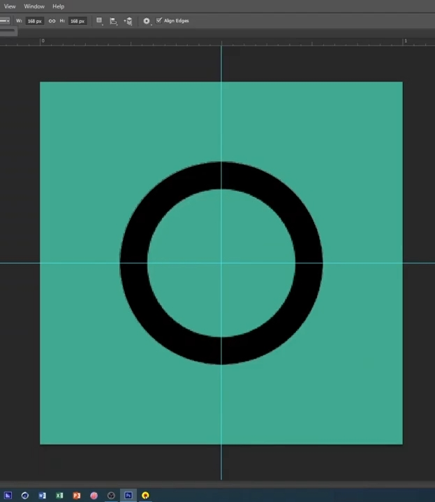 how to curve text in Photoshop-draw the circle