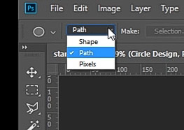 how to curve text in Photoshop-select path