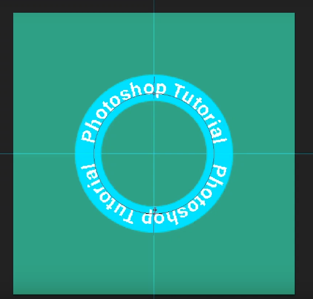 how to curve text in photoshop-change the start and end point