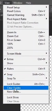 how to curve text in photoshop-clear guides