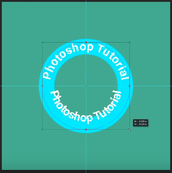 how to curve text in photoshop-resize the text