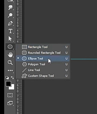 how to curve text-select the Ellipse tool