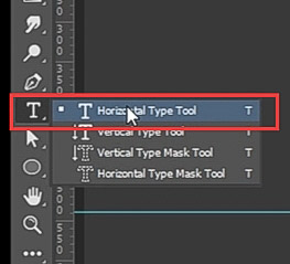 how to curve text-select type tool
