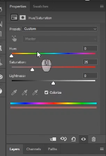 how to change skin color in photoshop-adjust the saturation properties