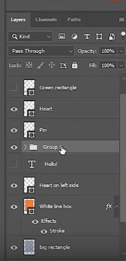 group layers