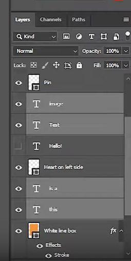 select irregular layers
