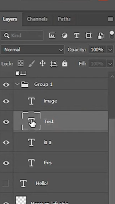 select single layer from group
