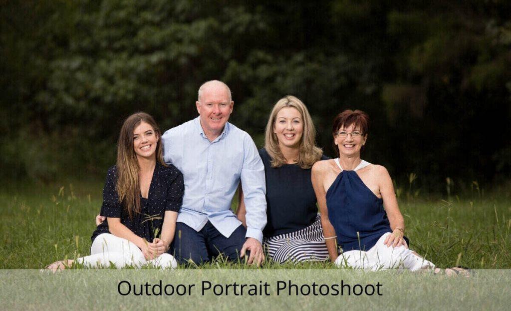 outdoor portrait photoshoot