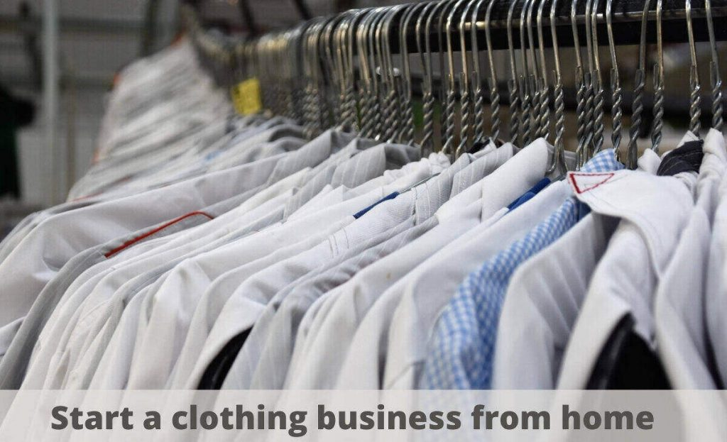 start a clothing business from home