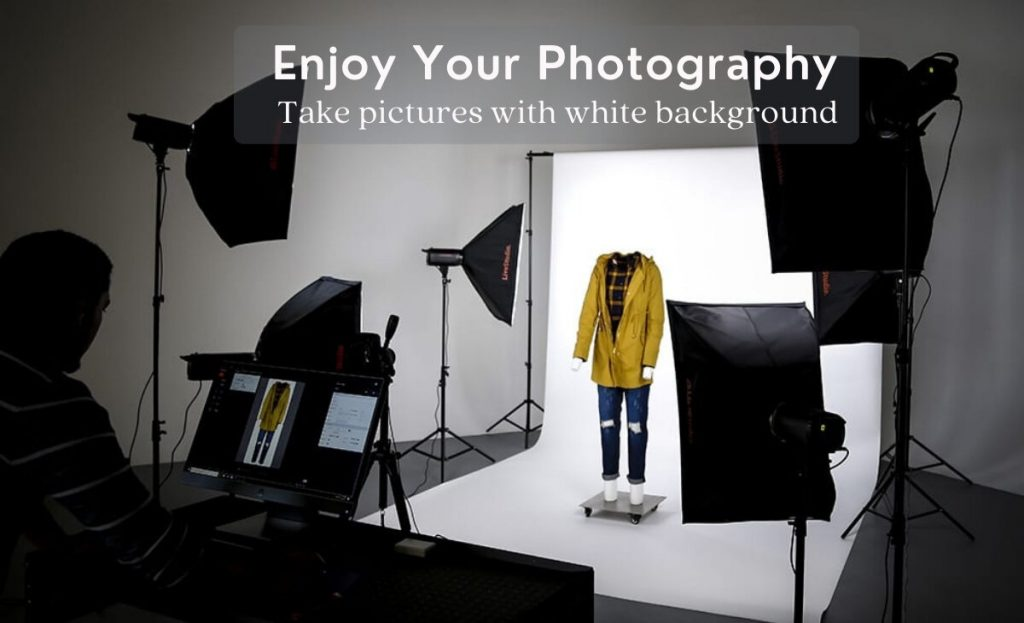 how to take pictures with white background