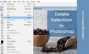 Delete Selection Photoshop