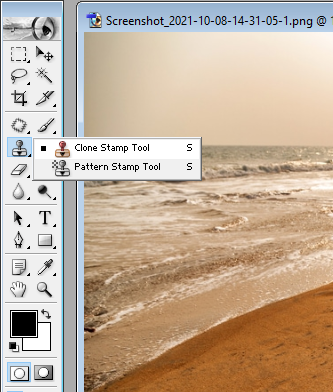 How to select the clone stamp tool