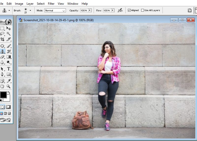 How do you open the image in photoshop