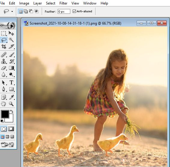 how open the image in photoshop
