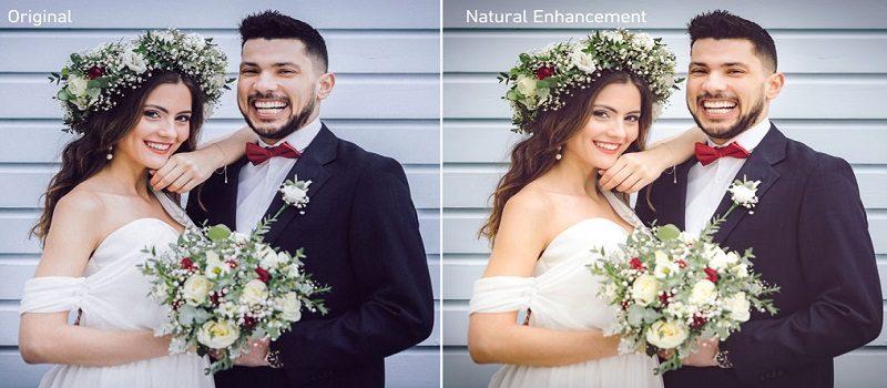 Wedding Photo Enhanced